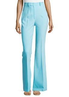 Michael Kors Flared Wool-Blend Trousers, Harbor