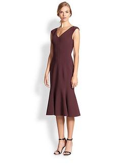 Michael Kors Flared Wool Dress