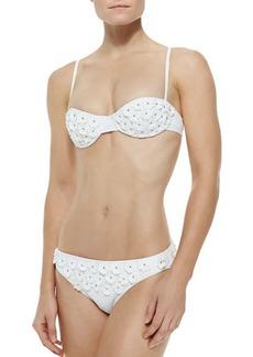 Michael Kors Floral-Applique Underwire Bikini Set
