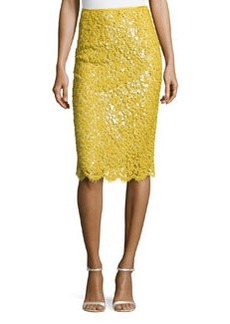 Michael Kors Floral Lace Pencil Skirt