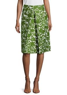 Michael Kors Floral Pleated Skirt