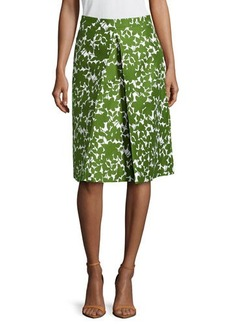 Michael Kors Floral Pleated Skirt