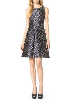 Michael Kors Floral-Print A-Line Dress