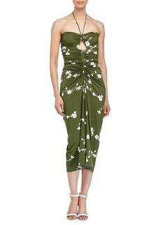 Michael Kors Floral-Print Bandeau Dress
