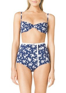 Michael Kors Floral-Print Bra-Top Bikini