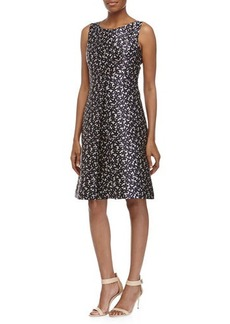 Michael Kors Floral-Print Center Pleat Dress