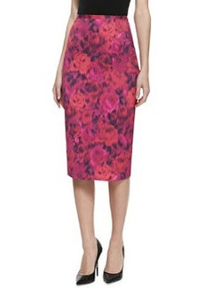 Michael Kors Floral-Print Pencil Skirt