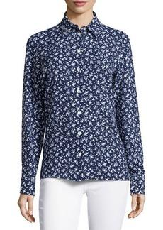 Michael Kors Floral-Print Slim Shirt