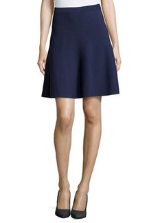 Michael Kors Flounce Jersey Skirt, Indigo