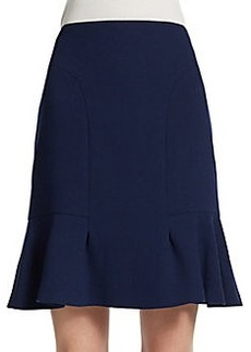 Michael Kors Flounced Wool Skirt