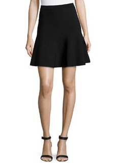 Michael Kors Flouncy Jersey Mini Skirt, Black