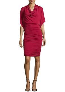 Michael Kors Flutter-Sleeve Ruched Dress, Rose