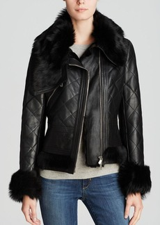 Michael Kors for Maximilian Quilted Lamb Shearling Jacket