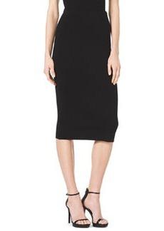 Michael Kors Formfitting Wool Tube Skirt