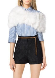 Michael Kors Fox Fur Shawl