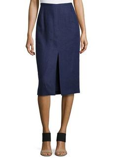Michael Kors Front-Slit Pencil Skirt