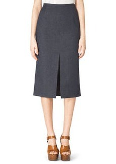 Michael Kors Front-Slit Pencil Skirt, Indigo