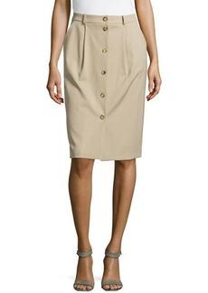 Michael Kors Gabardine Button Trouser Skirt