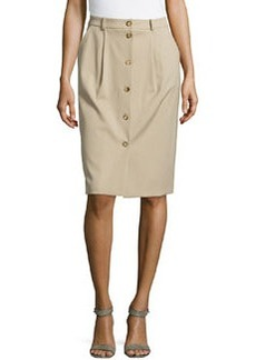 Michael Kors Gabardine Button Trouser Skirt, Sand