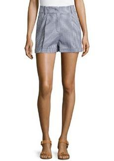 Michael Kors Gingham Pleated Shorts, Indigo
