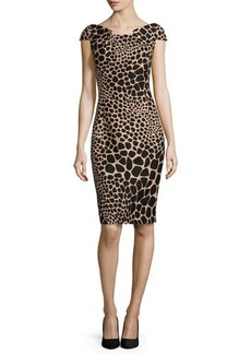 Michael Kors Giraffe-Print Origami Dress