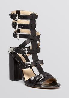 Michael Kors Gladiator Sandals - Paisley Buckle High Heel