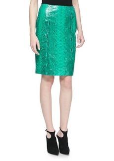 Michael Kors Glazed Python A-line Skirt