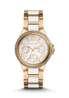 Michael Kors Gold-Tone & White Camille Watch, 33mm