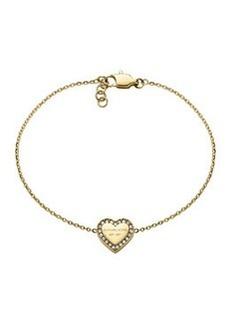 Michael Kors Golden Logo Heart Bracelet