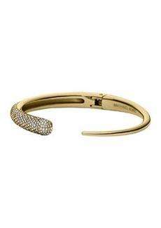 Michael Kors Golden Pave Asymmetric Hinge Cuff