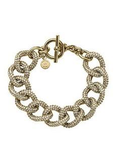 Michael Kors Golden Pave Curb-Link Bracelet