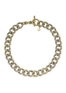 Michael Kors Golden Pave Curb-Link Toggle Necklace