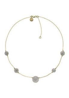 Michael Kors Golden Pave-Disc Necklace