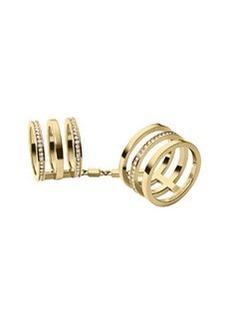 Michael Kors Golden Pave Large Knuckle Ring