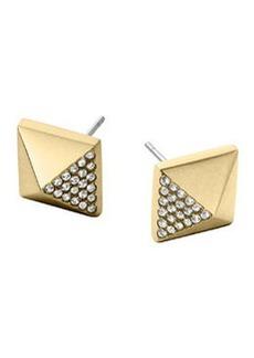 Michael Kors Golden Pave Pyramid Earrings