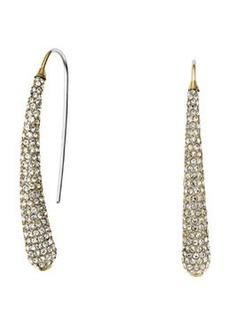 Michael Kors Golden Pave Statement Drop Earrings