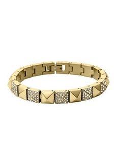 Michael Kors Golden/Pave Pyramid Tennis Bracelet