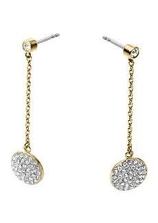 Michael Kors Golden/Silver Pave Disc-Drop Earrings