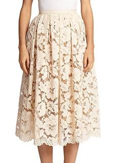 Michael Kors Guipure Lace Midi Skirt