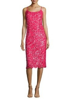 Michael Kors Guipure Lace Spaghetti Strap Sheath Dress, Azalea