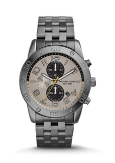 Michael Kors Gunmetal-Tone Mercer Watch, 45mm