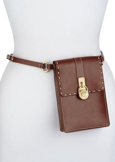 Michael Kors Hamilton Lock Leather Belt Bag