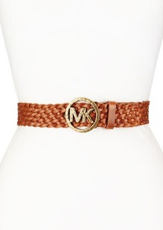 Michael Kors Hammered-Logo Braided Belt