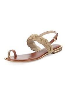 Michael Kors Hannalee Chain Flat Sandal, Luggage