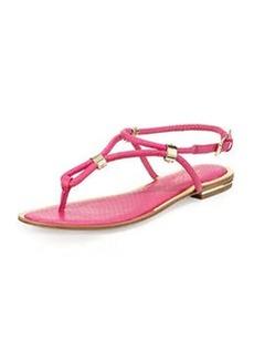 Michael Kors Hartley Snakeskin Thong Sandal, Geranium