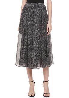 Michael Kors Herringbone Chiffon Dance Skirt