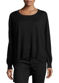 Michael Kors High-Low Knit Sweater, Black