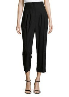 Michael Kors High-Waist Pleated Pants, Black