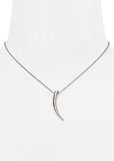 """Michael Kors Horn Pendant Necklace, 16"""""""