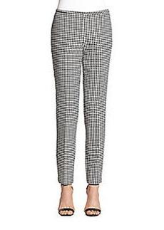 Michael Kors Houndstooth Jacquard Skinny Pants